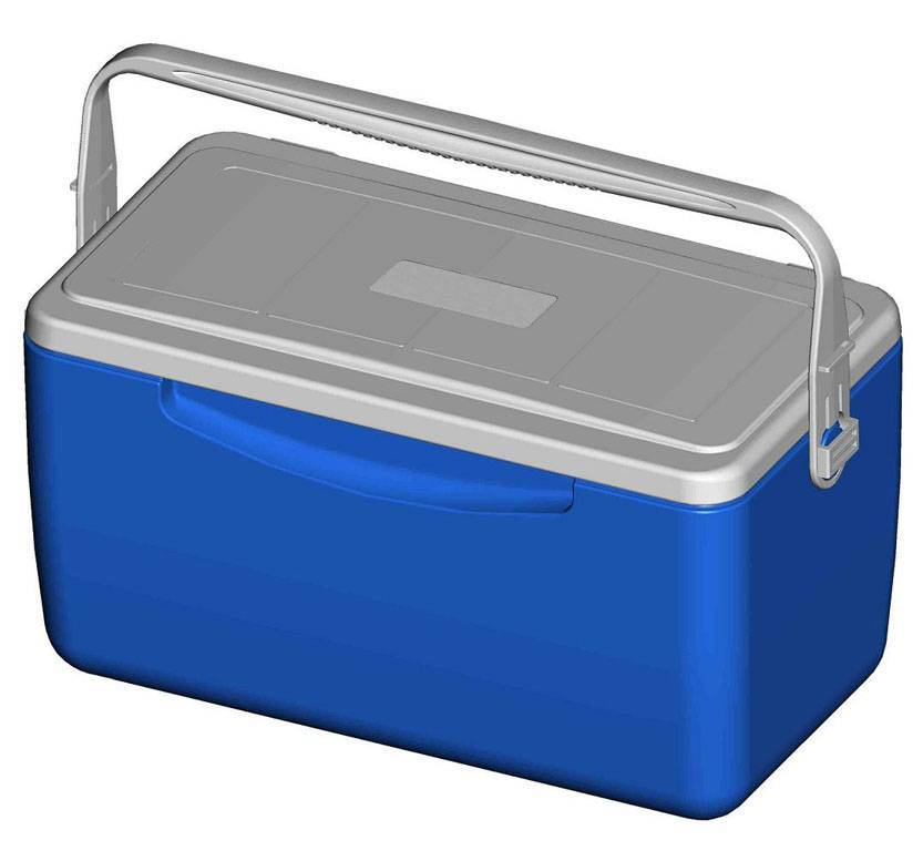 26L plastic environmental fishing cooler box