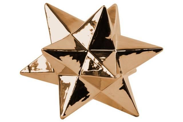 Ceramic 12 Point Stellated Icosahedron Sculpture