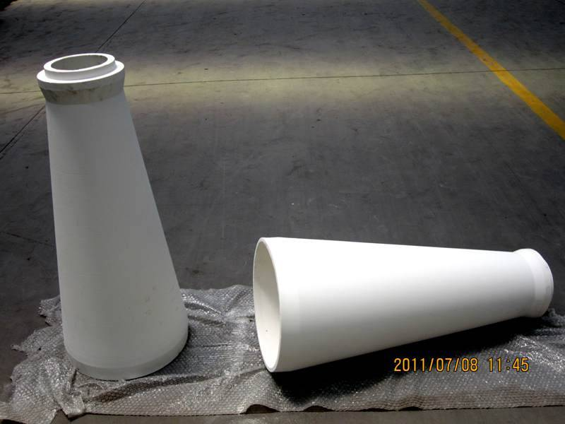 sell one-piece wear resistant alumina ceramic cyclone
