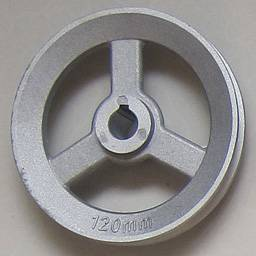 Aluminum belt pulley. Customized Cast Iron Belt Pulley