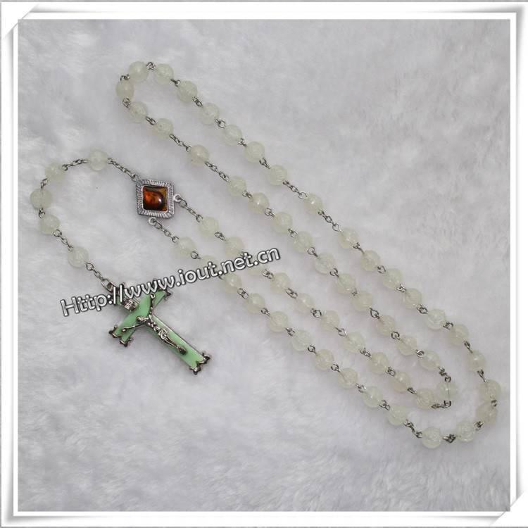 Plastic luminous bead rosary