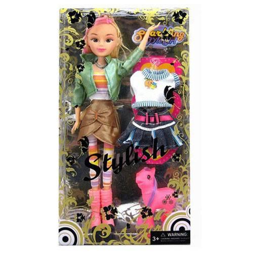 11.5inch fashion doll set, plastic fashion doll,vinyl doll set
