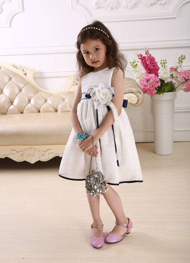2014 super cheap knee-length New designed Cute Baby Girl Dress