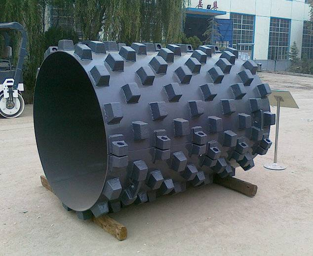 Remove pad for road roller
