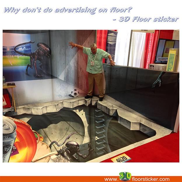 Why don't do advertising on floor? - 3D Floor Sticker