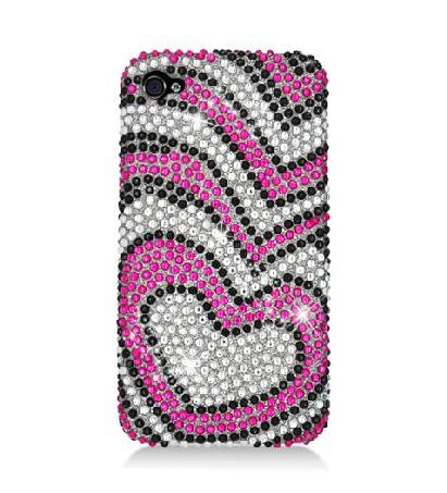 Iphone4 heart diamond case