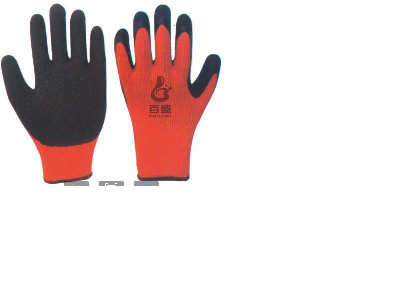 7G Loop Acrylic glove,Latex crinkle