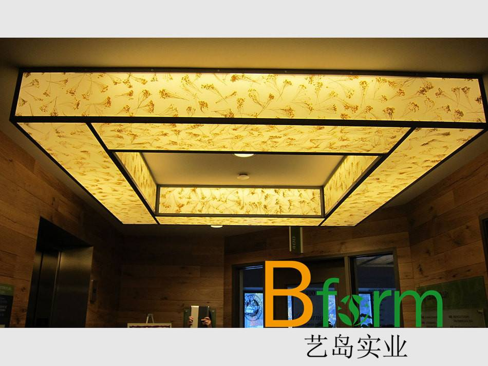 translucent decorative plastic panel-ecological resin material