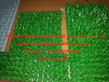 Plastic lawn mat machinery