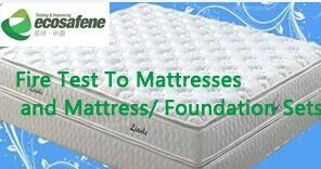 BS 7177: Flame retardant test to mattresses, divans and bed bases