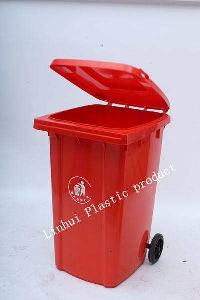 Outdoor Plastic Garbage Bin with wheel -100L