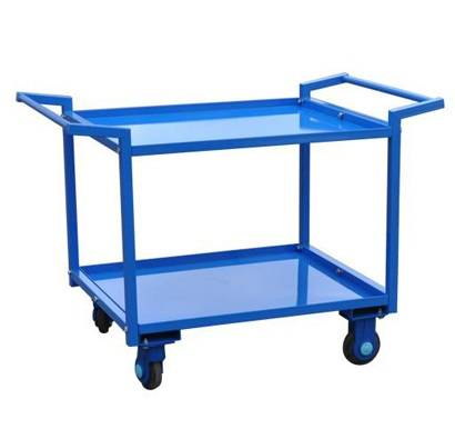 Tray type metal double handle carts,material moving hand cart RCA-0218