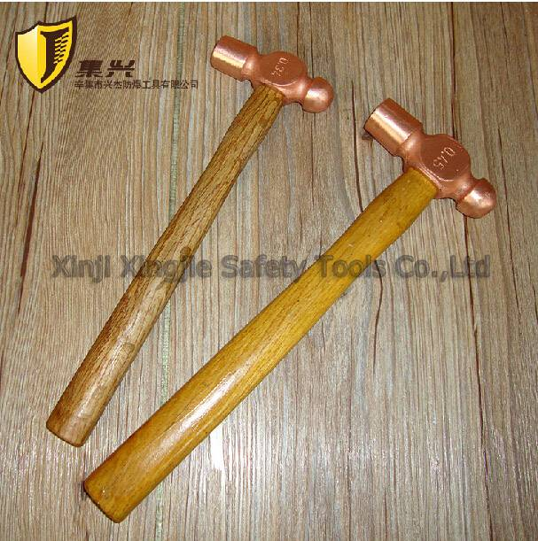 Red Copper Ball Pein Hammer,Non sparking Tool
