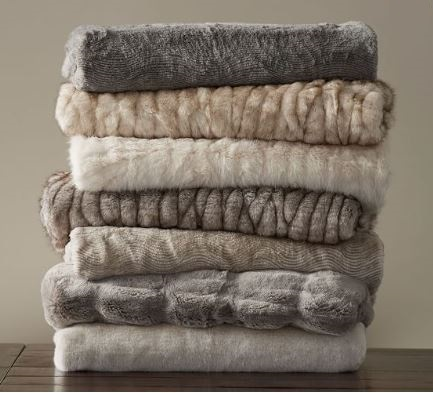 100% polyester faux fur fabrics made in South Korea