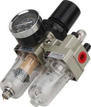 Pneumatic air filter+regulator lubricator AC2010-02 1/4 inch air filter SMC type AC series FRL Combi