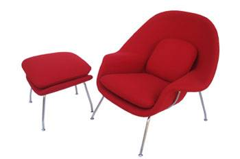 Hotel/Living Room Furniture Red Womb Chair