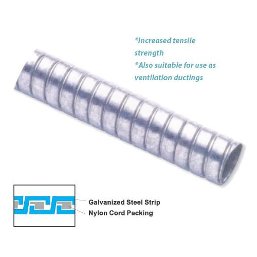 Shanghai Delikon Tubing Co., Ltd.,Flexible Metal Conduit with rubber sealing cord