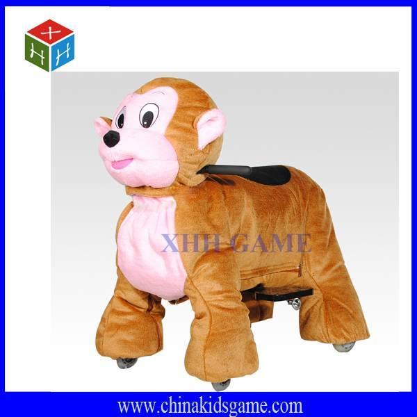 Hot sale kids electric animal ride, amusement monkey ride