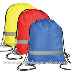 Promotional Polyester Drawstring Backpack - 15w x 18h