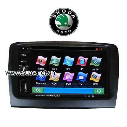 Skoda superb Car DVD Media Player 6.2Monitor With RDS Bluetooth IPOD GPS navi