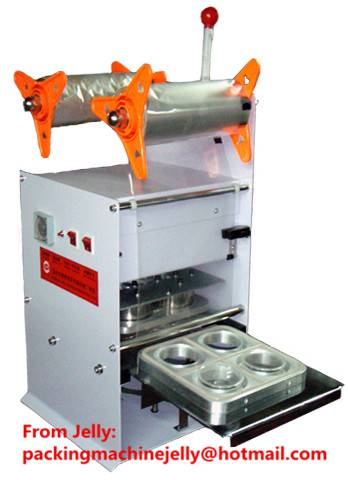 BZD75-4S semi-auto cup sealer automatic cup sealing machine for jelly Beverages