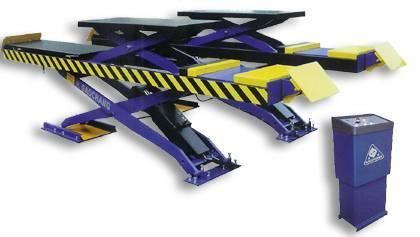 Double-level platform scissor lift suitable for four wheel alignment