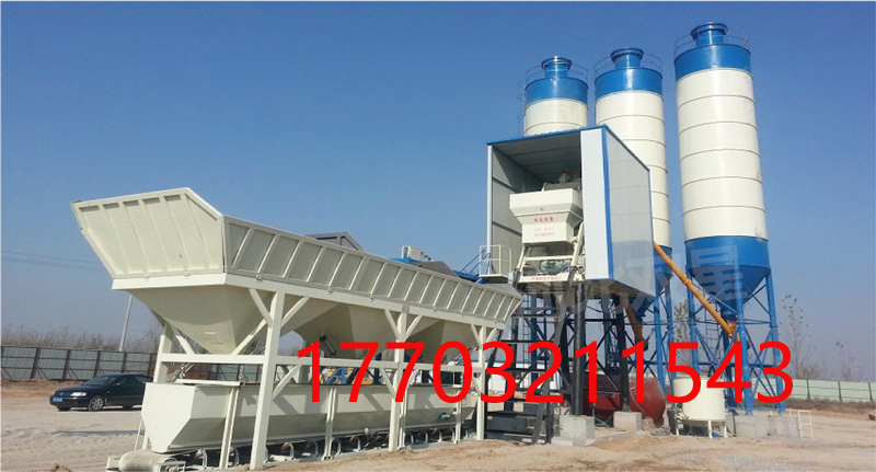 long-term sales of HZS35 concrete batching plant