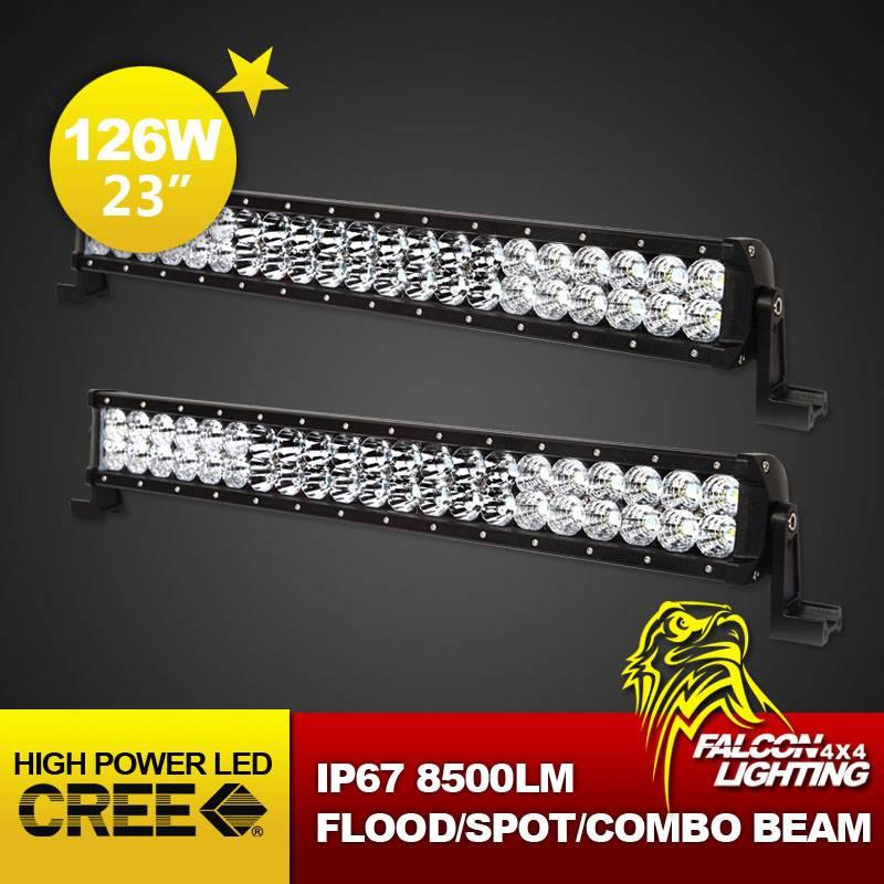 New Combo Beam 23 126W Cree LED Light Bar for Auto ATVS UTV Offroad 4X4 Racing