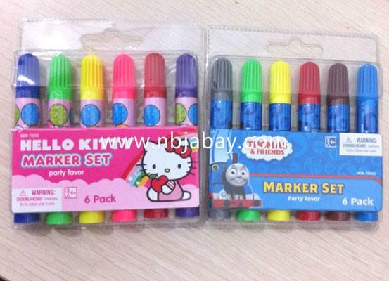 Kitty 6 pack jumbo markers