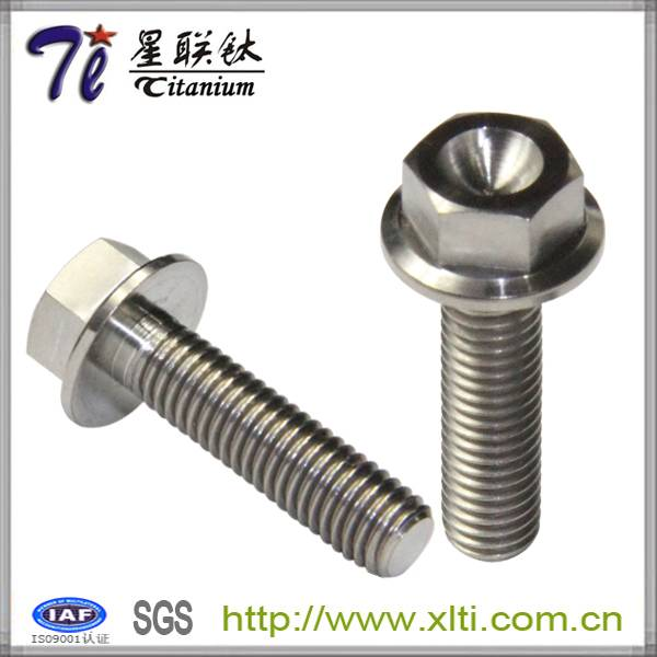 M10 Gr5 Titanium Flange Bolt with Hexagon Head