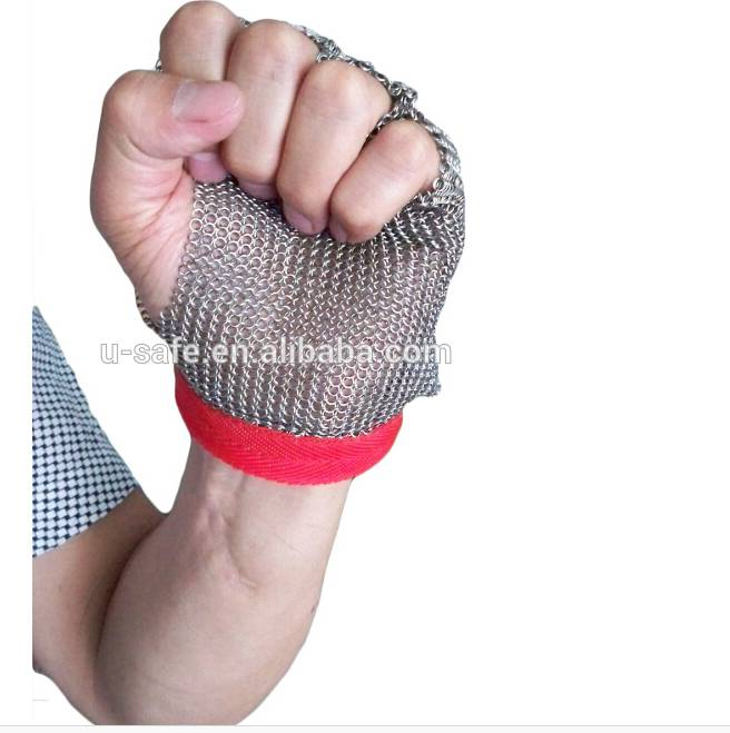 manufacture ring mesh glove stainless steel ring mesh gloves