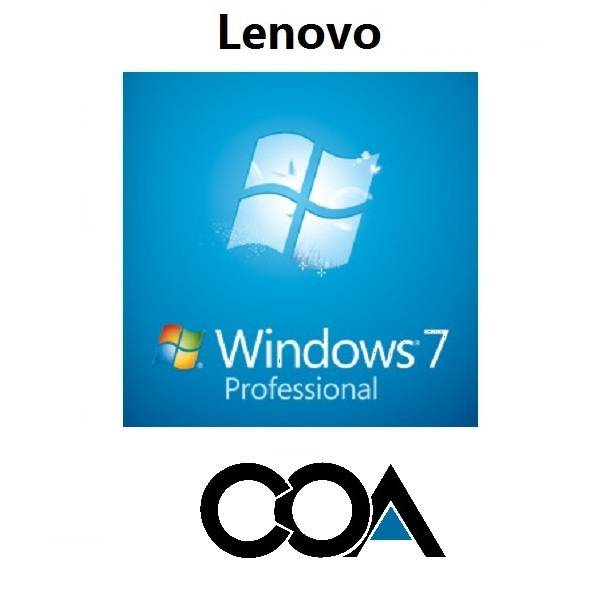 Microsoft Windows 7 Professional OA China Lenovo COA Sticker