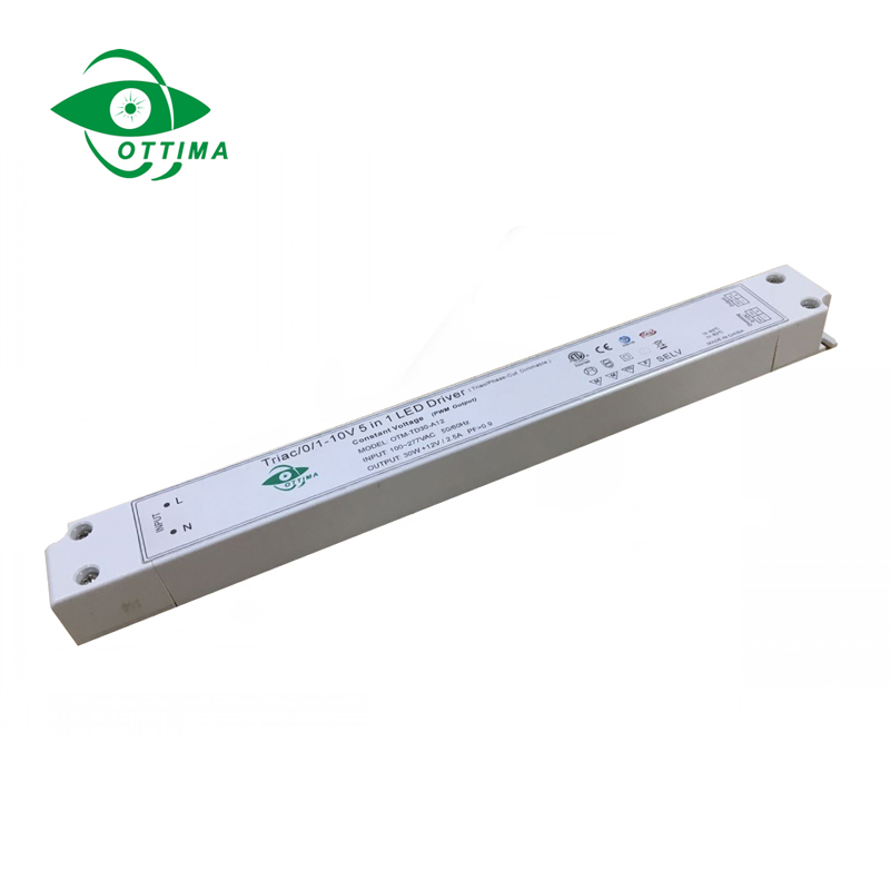 12v 30w slim 5 in 1 dimmable led driver5 in 1 dimmable led driver China