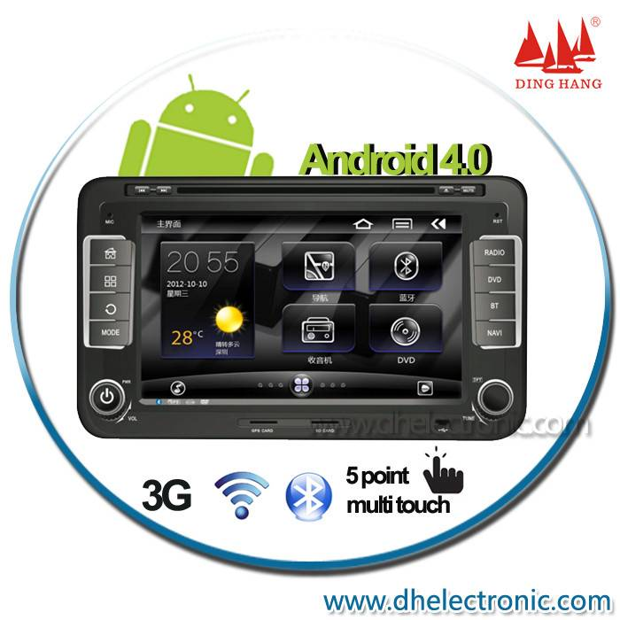 Double din car pc for VW Skoda Seat android dvd gps with bluetooth ipod usb