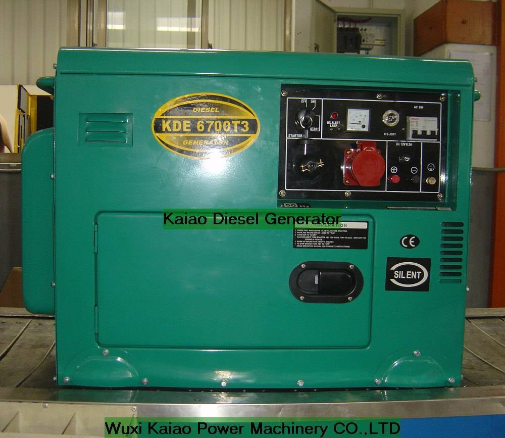 Diesel Generator Set (KDE6700T3) CE marked