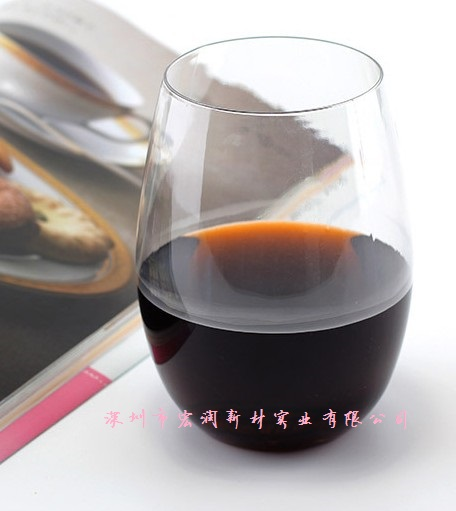 Plastic red wine cup plastic cup without feet