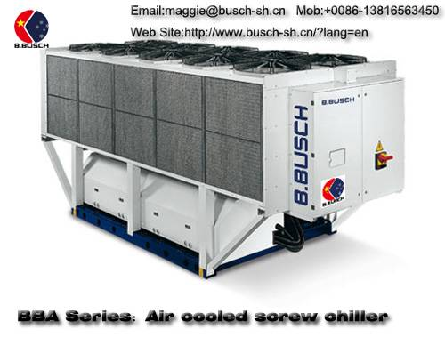 Medical equipment cooling BUSCH air-cooled screw chiller