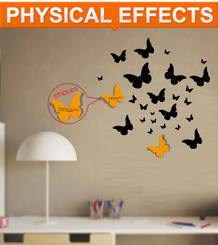 Decorative Vinyl Wall sticker butterfly wall notes print