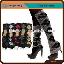 Wool Patterned Leg Warmers Supports From Guangzhou Socks Supplier