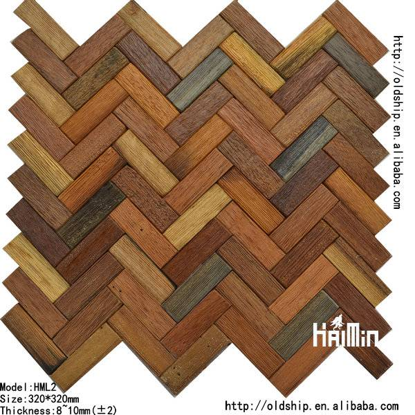 Solid Wood Mosaic Tiles
