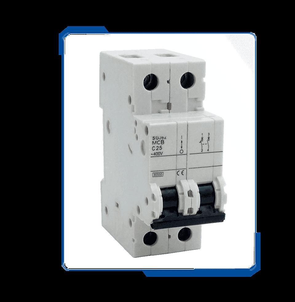 5SJ 6KA 20 amp mcb two pole circuit breaker ,plug-in type circuit breaker
