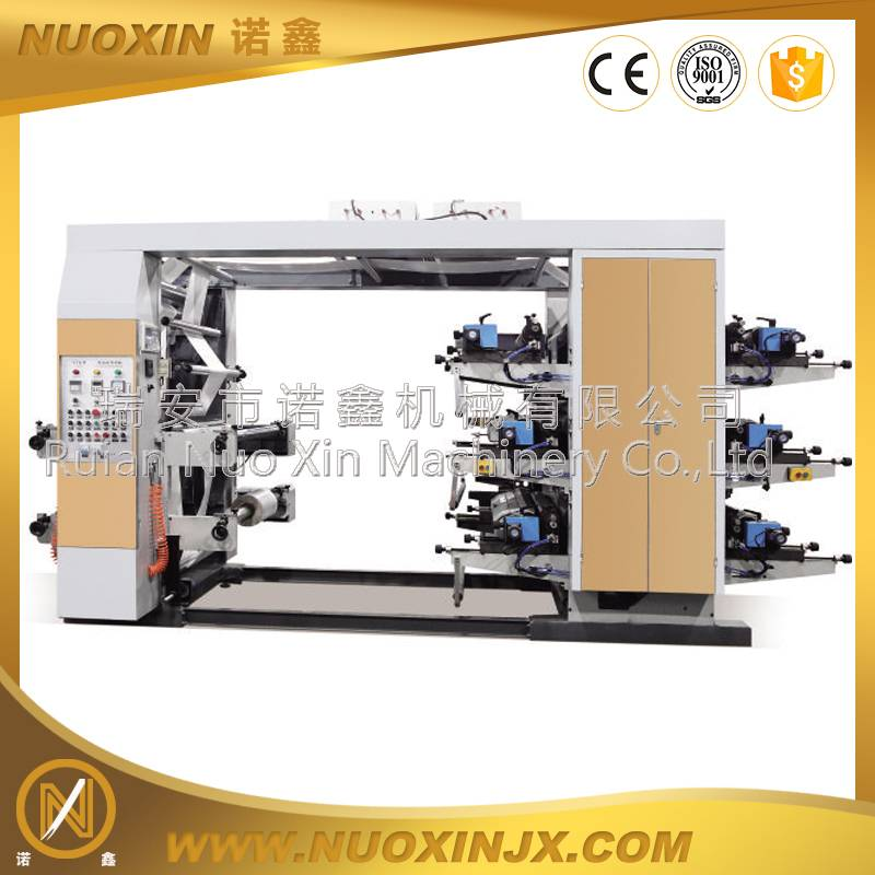 NX-61000 6 Color Stack type flexographic printing machine