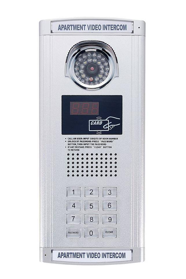 2 Wires Video Door Phone for Building Apartment Intercom