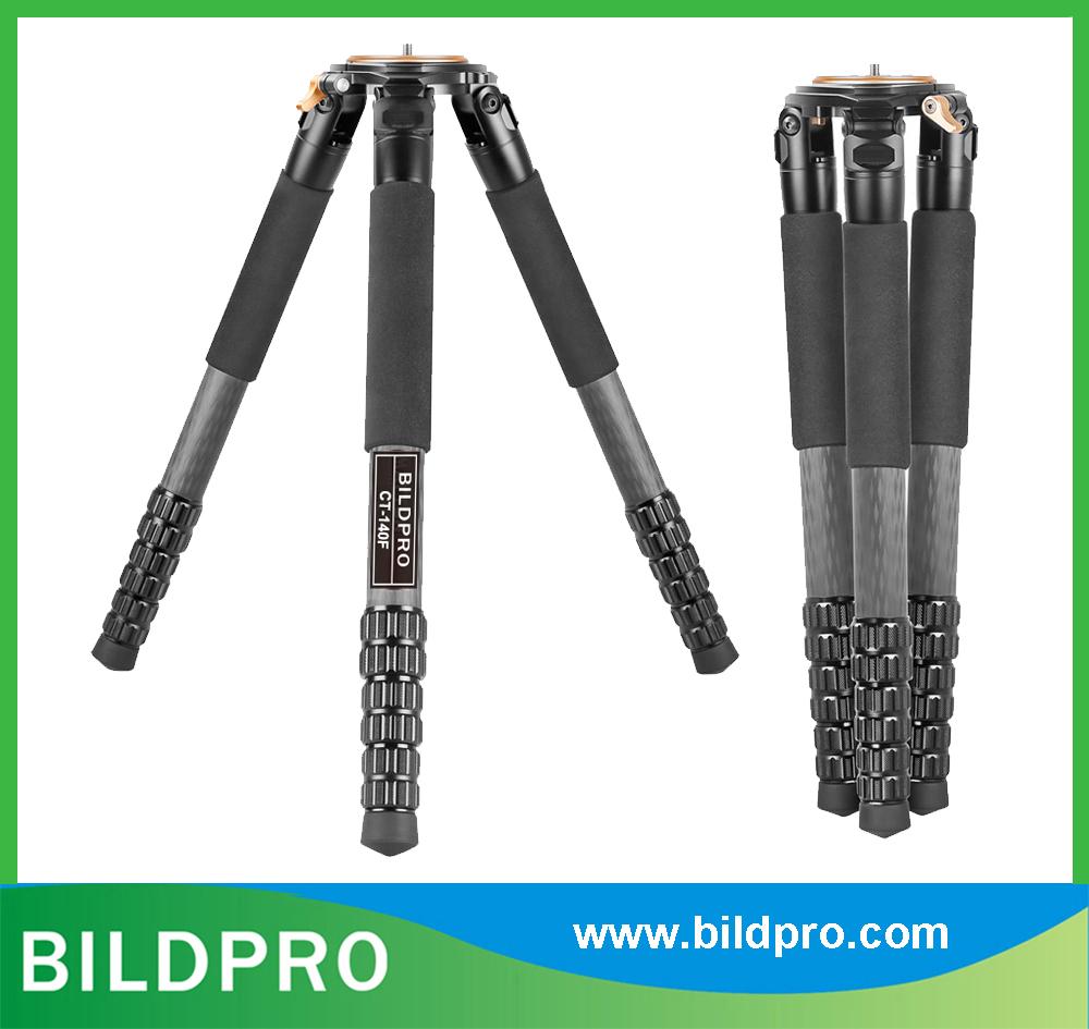 BILDPRO 36mm 10X Carbon Fiber Tripod CNC Trident 50kg Heavy Load Video Stand