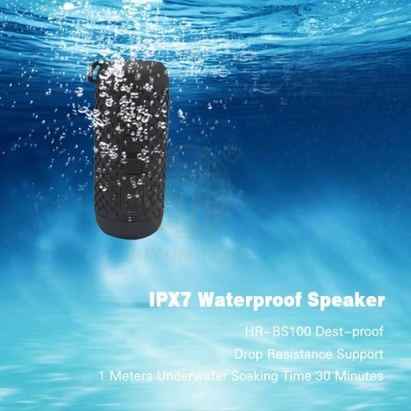 waterproof IPX7 outdoor wireless Bluetooth stereo speakers