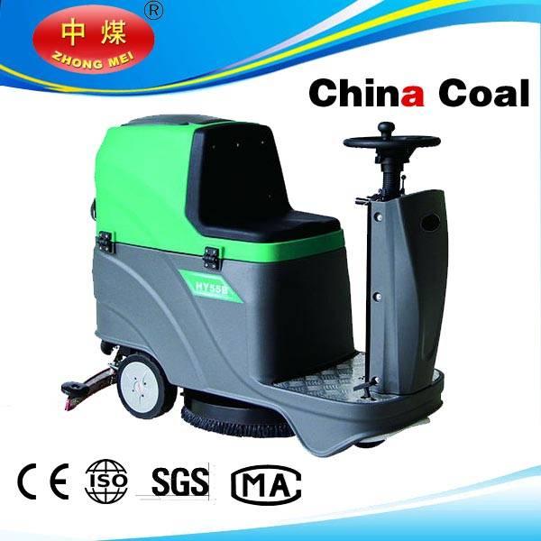 Ride-on scrubber dryer