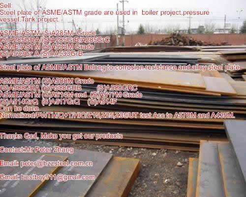 Sell :Spec ASTM/ASME SA533M steel plate,Grade,SA533GRA+N+HIC, A533GRB+HIC/Boiler steel plate/Pressur