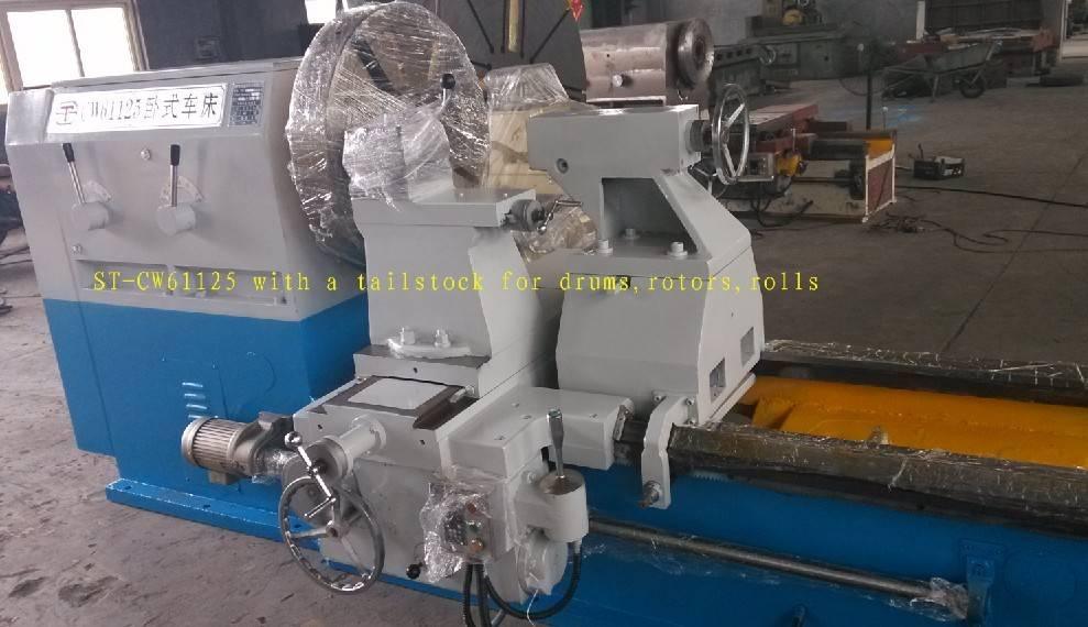Horizontal lathe machine for drums/ Rotor turning lathe/ Roll turning lathe/