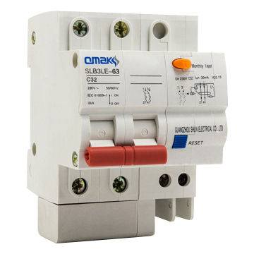 SLB3LE-63 Series Residual Current Circuit Breaker with Overload