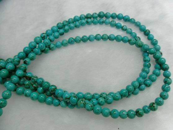 turquoise round beads\gemstones\fashion jewelry
